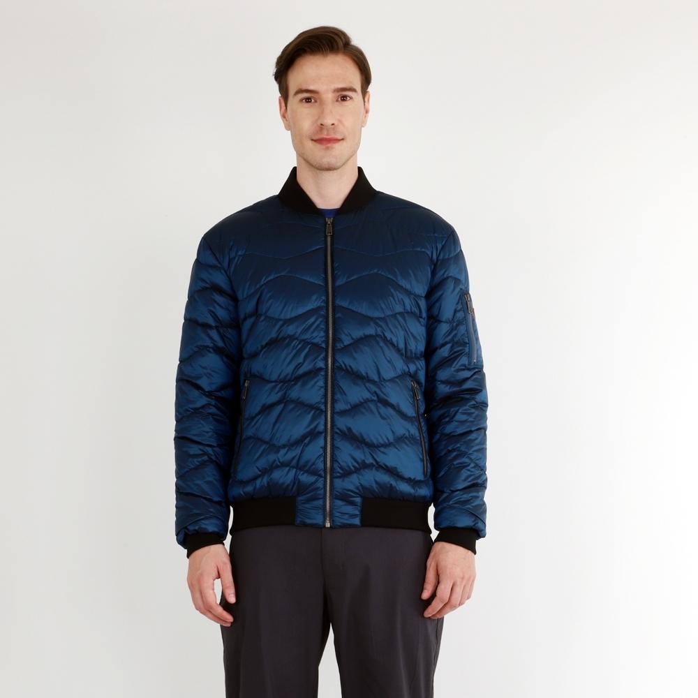 【HAKERS 哈克士】男 防潑水保暖外套(汽油藍)