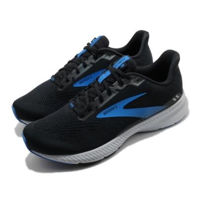 Brooks 慢跑鞋 Launch 8 2E 寬楦 運動 男鞋 路跑 緩震 DNA科技 透氣 健身 球鞋 黑 藍 1103582E018
