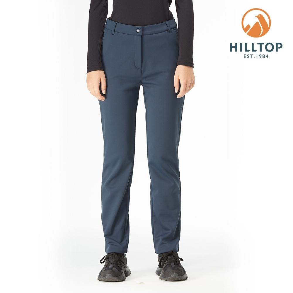 【hilltop山頂鳥】女款WINDSTOPPER防風透氣保暖長褲H31FM7藍莓色
