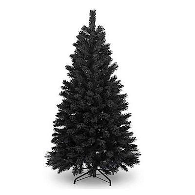 摩達客 豪華型4尺(120cm)時尚豪華版黑色聖誕樹(不含飾品不含燈)