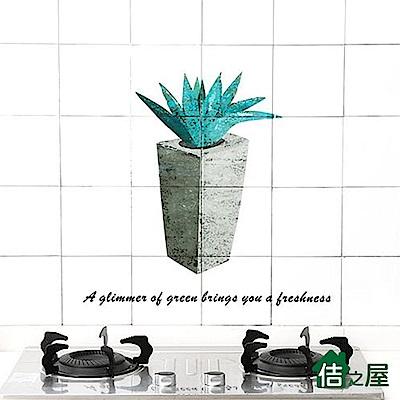 佶之屋  透明 廚房DIY自黏防油壁貼 60x90cm