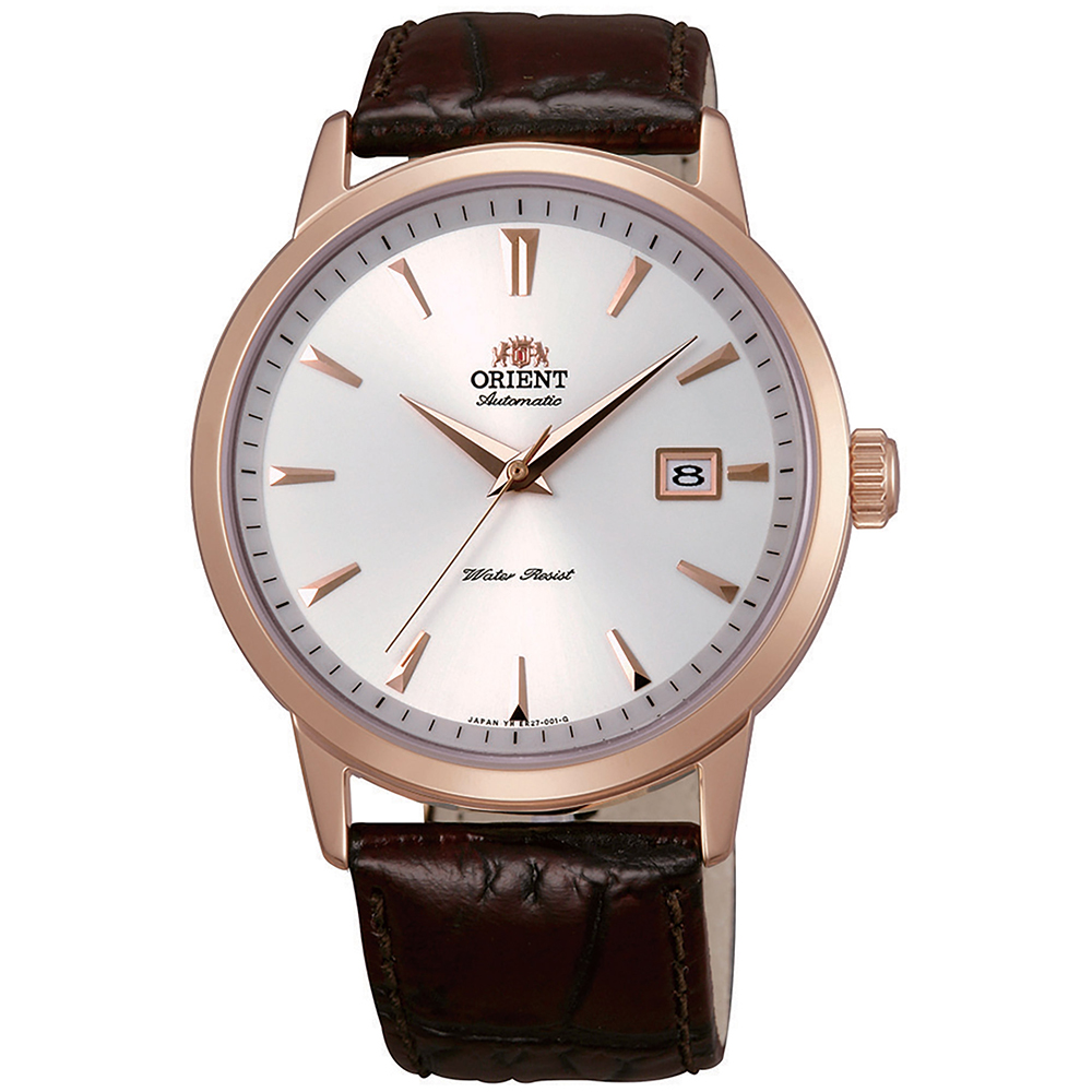 ORIENT  當代時尚黑鋼自動機械錶(FER27003W0)-白面x41mm