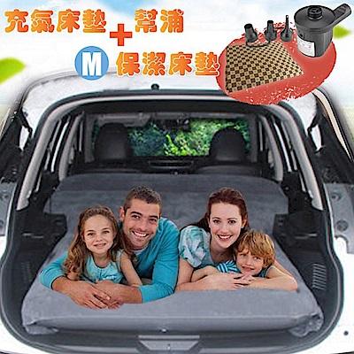 Camping Ace 二代升級-快充式植絨充氣床墊+保潔床包M+2用幫浦