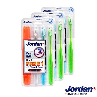 Jordan 超纖細牙刷促銷包(超軟毛)旅行盒限定組*3組