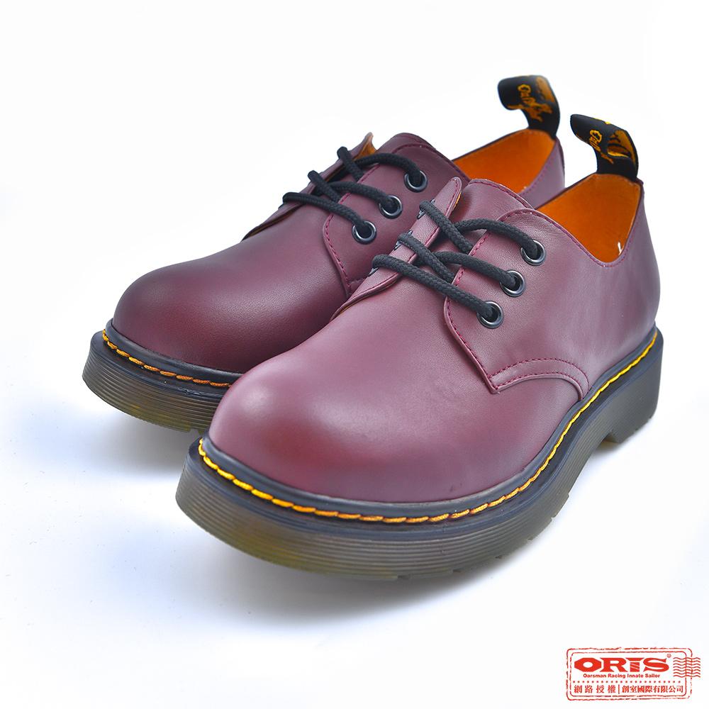 ORIS 女款 低筒圓頭馬丁鞋 酒紅 S8702N07