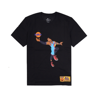 Nike T恤 LeBron Space Jam Tee 男款 怪物奇兵 Dri-FIT 吸濕排汗 運動休閒 黑 DH3832-010