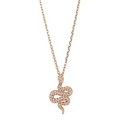SWAROVSKI 施華洛世奇 Leslie蛇造型水晶玫瑰金項鍊
