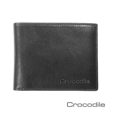 Crocodile Natural系列義大利植鞣拉鍊雙鈔短夾 0103-5806