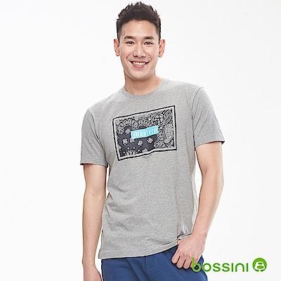 bossini男裝-印花短袖T恤16淺灰