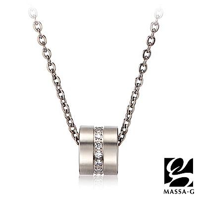 MASSA-G LJ系列【Muse謬斯之輪】金屬鍺錠純鈦項鍊