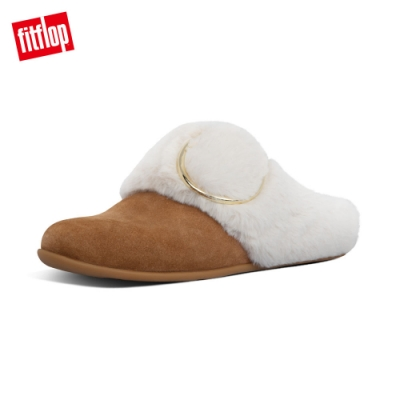 FitFlop TILDA BUCKLE SLIPPERS 便鞋 淺褐色
