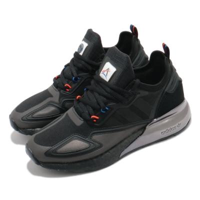 adidas 休閒鞋 ZX 2K Boost 聯名款 男鞋 愛迪達 NASA 緩震 球鞋穿搭 反光 黑 銀 H03247