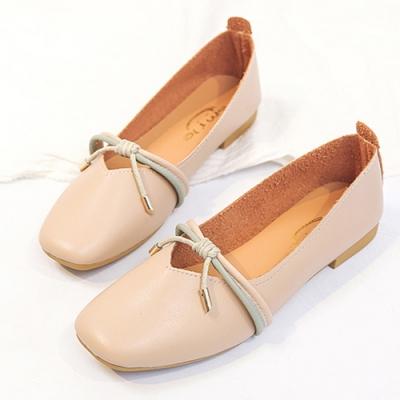 KEITH-WILL時尚鞋館 韓式名媛舒適自在方頭鞋-杏