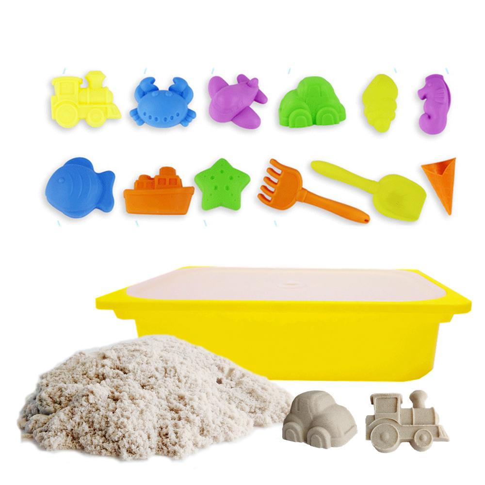 TUMBLING SAND 翻滾動力沙5公斤便利組 含大型沙盒 12件海灘模具組(款式隨機出貨)