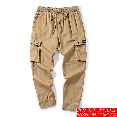 FASHION館 重磅工裝機能工作褲 軍裝 加大口袋