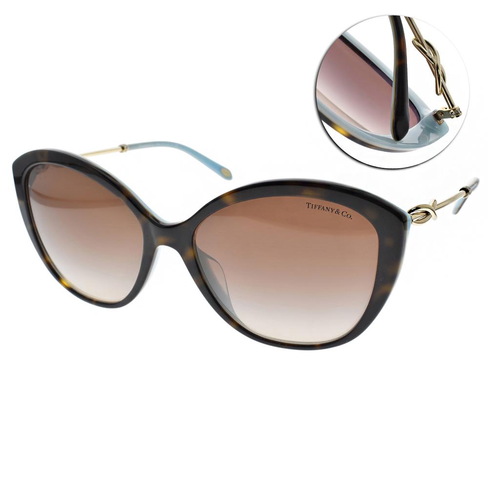 Tiffany&CO.太陽眼鏡 簡約典雅貓眼/琥珀 #TF4144BF 81343B