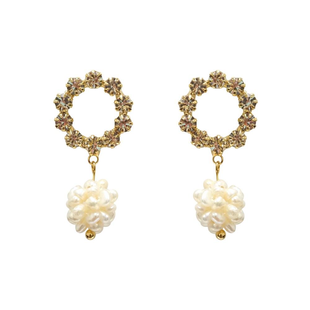 Prisme 美國時尚飾品 繁華綻放 金色耳環