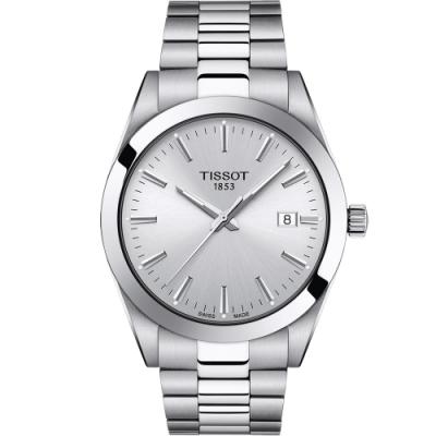 TISSOT天梭GENTLEMAN紳士密令石英男錶(T1274101103100)