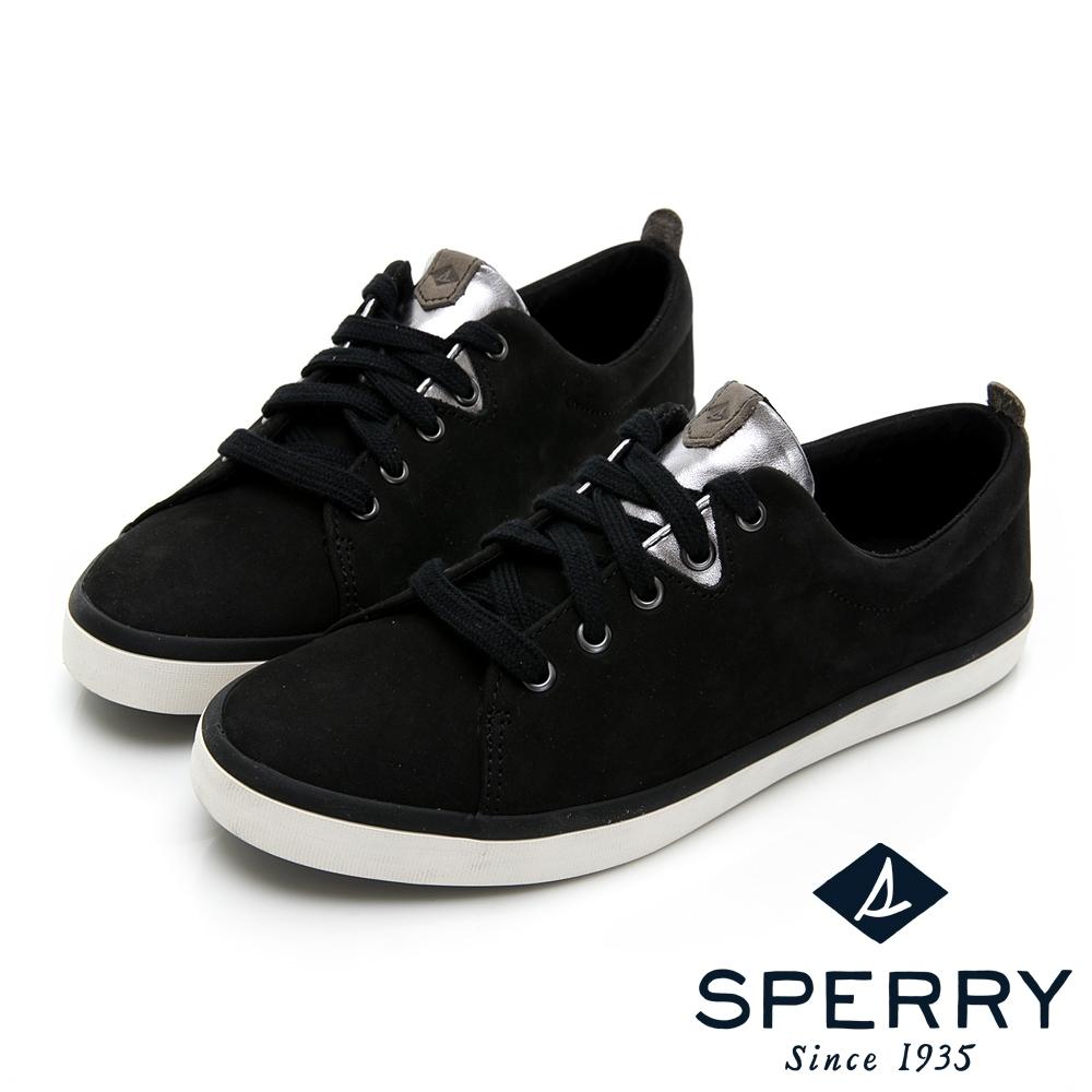 SPERRY 奢華經典真皮休閒鞋(女)-黑色