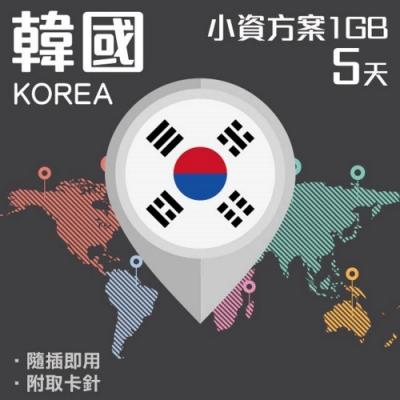 【PEKO】韓國上網卡 5日高速4G上網 1GB流量 優良品質