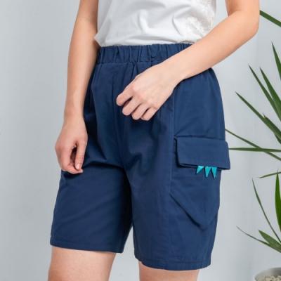 【白鵝buyer】 童趣口袋韓國製休閒褲_深藍