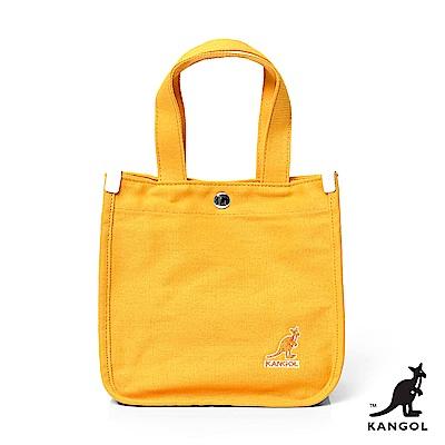 【KANGOL】英式潮流-簡約手提/側背兩用包-黃