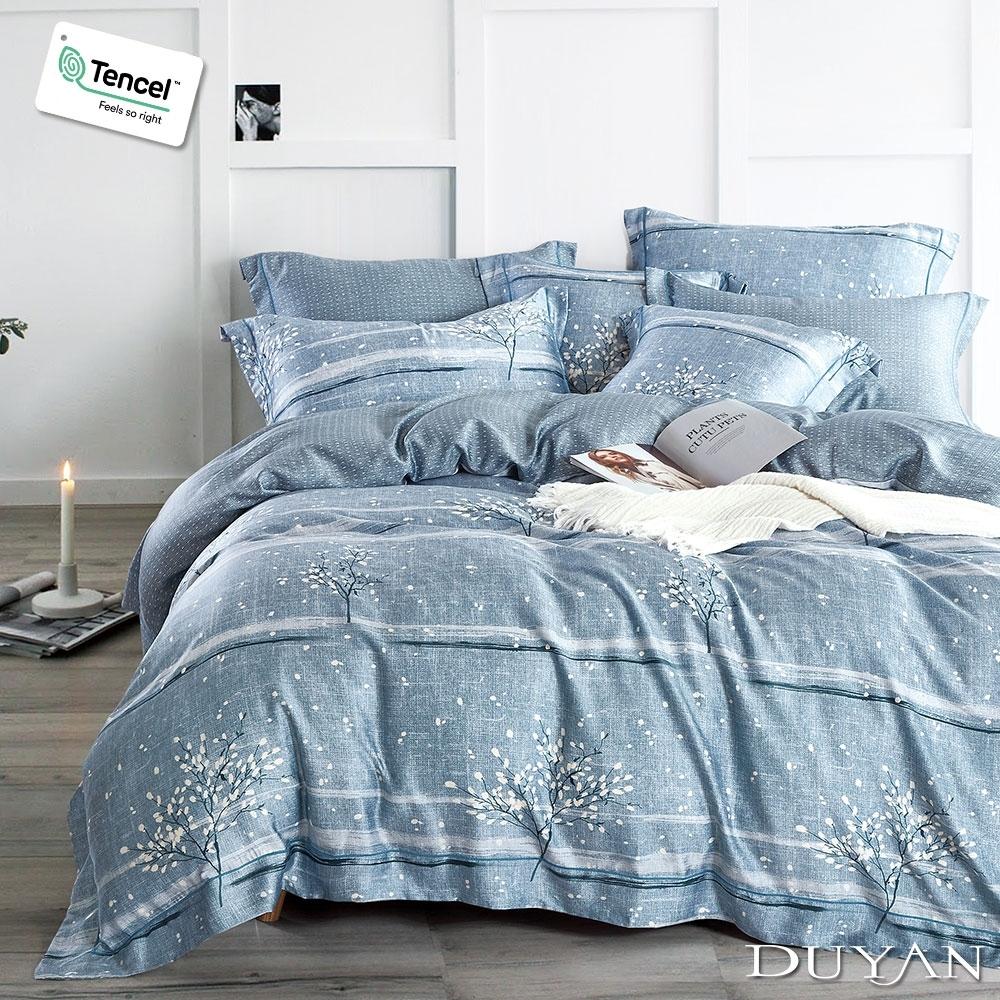 DUYAN竹漾-100%頂級萊塞爾天絲-雙人加大床包被套四件組-靜好歲月