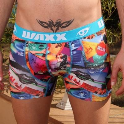 WAXX瘋狂世界設計款運動四角褲男內褲