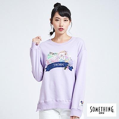買一送一 BONBON法鬥哥 漫步亞維儂 厚長袖T恤-女-粉紫