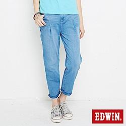 EDWIN 迦績褲JERSEYS棉感老爺褲-女-重漂藍