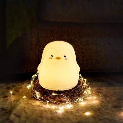 半島良品  小企鵝小夜燈USB拍拍燈  聖誕交換禮物 情人節生日禮物 夜燈 企鵝燈