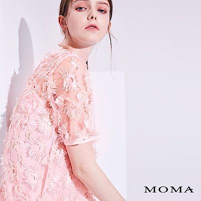 MOMA 立體花網紗上衣