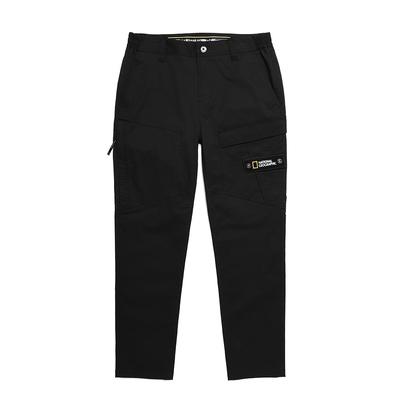 NATIONAL GEOGRAPHIC 男 TANU CTN POCKET PANTS(BASIC FIT) 長褲 炭黑-N211MPT030198