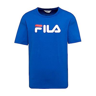 FILA  男款短袖圓領T恤-寶藍 1TET-1500-AB