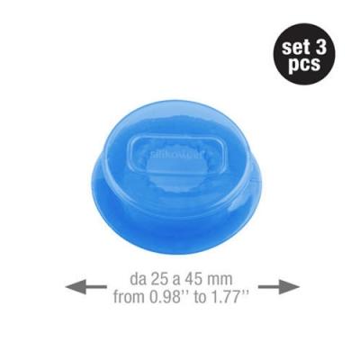 義大利製SiliKoMart-聰明保鮮蓋CAPFLEX藍色三入組-S(4cm)