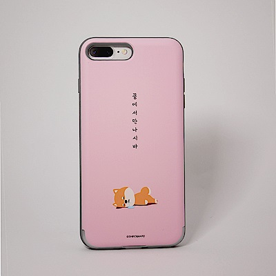 Shiro&Maro(粉紅睡覺款)隨身帶卡片手機殼