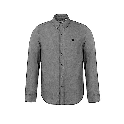 Timberland 男款紗染黑色Back River長袖襯衫|A1NMI