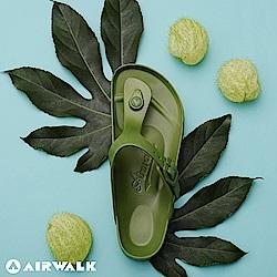 【AIRWALK】百搭羅馬夾腳拖鞋(綠色)