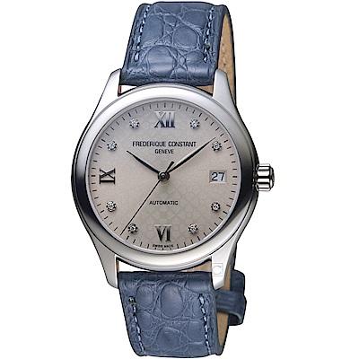 康斯登CONSTANT經典時尚機械女腕錶(FC-303LGD3B6)-藍