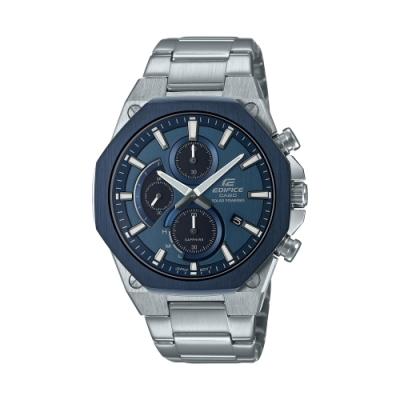 CASIO卡西歐 EDIFICE 太陽能電力 輕薄 八角錶圈 EFS-S570DB-2A_44mm