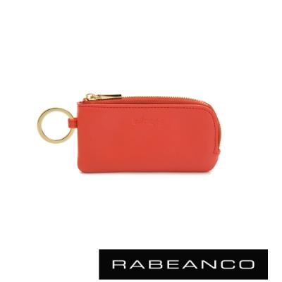 RABEANCO 迷時尚系列鑰匙零錢包 橘紅