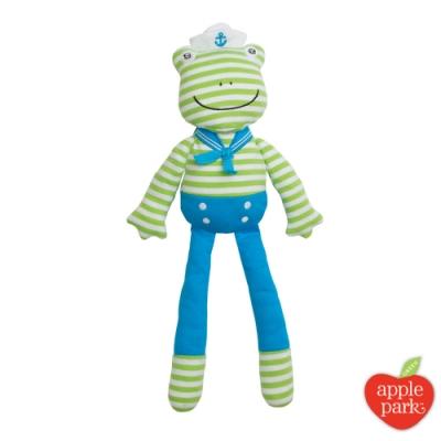 【美國 Apple Park】農場好朋友 有機棉安撫玩偶 - 青蛙跳跳