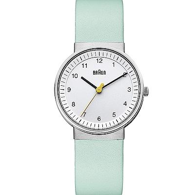 BRAUN德國百靈 粉彩經典款女錶(草綠)  –白色/33mm