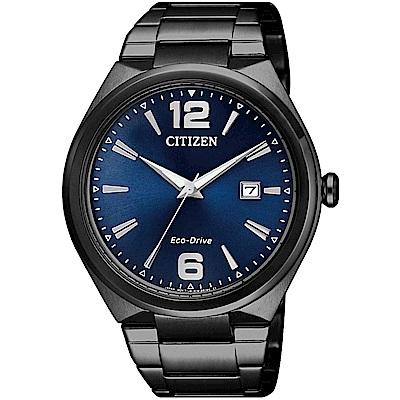 CITIZEN星辰 光動能 熱愛城市時尚男錶(AW1375-58L)-黑x藍/41mm