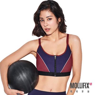 Mollifix 瑪莉菲絲 前扣高穩定可調肩帶運動內衣 (紅藍)