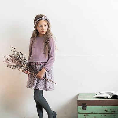PIPPY 經典小碎花兩件式洋裝-紫