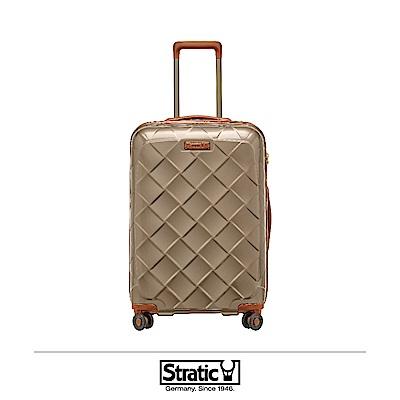 德國 Stratic 雙齒防盜防爆拉鍊行李箱 25吋 香檳色