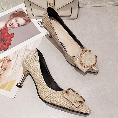 KEITH-WILL時尚鞋館 時尚潮流女款夏日精選細跟鞋-金色