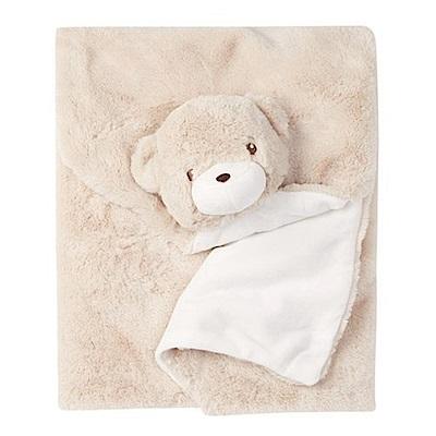美國Quiltex 超柔軟動物嬰兒毯安撫毯 - 淺咖啡熊