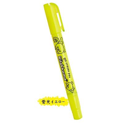 拉拉熊 gel crayon pen 螢光蠟筆。粉黃San-X